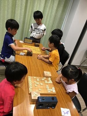 第2回将棋デーinプログラミング教室での大会の様子