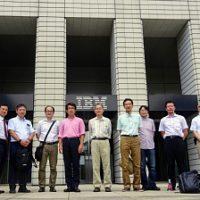 薦田研究室の同窓会。IBM本社事業所見学会後の記念写真