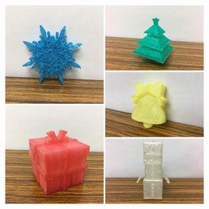3Dプリンターで作ったクリスマス飾り1(2018)