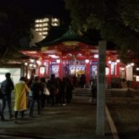 2018年を迎えた直後の大阪・御霊神社の様子